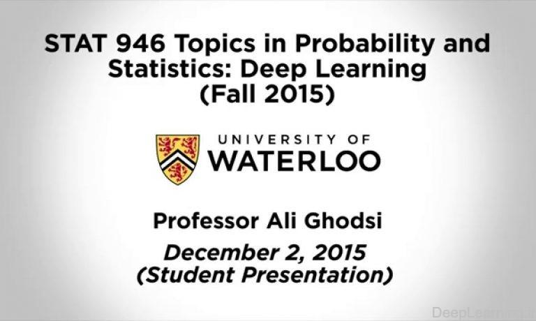 آموزش یادگیری ماشین و یادگیری عمیق دکتر قدسی دانشگاه واترلو پاییز ۲۰۱۵