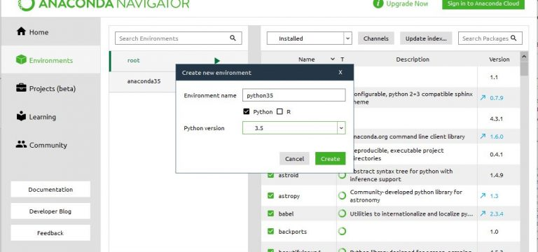 AnacondaNavigator_createEnv2